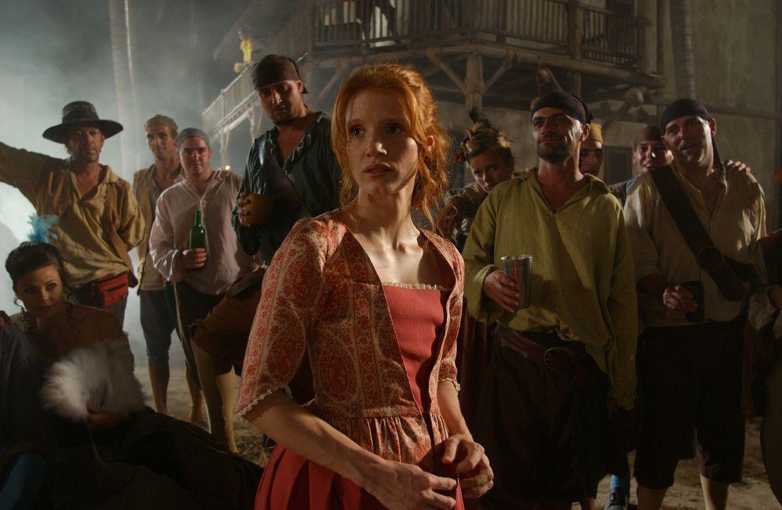 Lässt sich nicht einschüchtern von einer Handvoll wilder Kerle: Charlotte (Jessica Chastain) ... - Bildquelle: Hallmark Entertainment