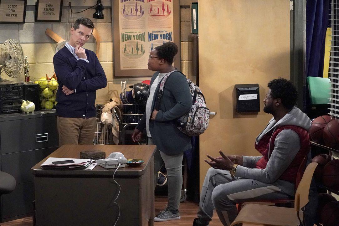 Jack (Sean Hayes, l.) muss sich mit den Anliegen von Tasha (Jordan Julian, M.) und Theodore (Derek Gaines, r.) herumärgern ... - Bildquelle: Chris Haston 2017 NBCUniversal Media, LLC / Chris Haston
