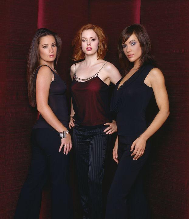 (5. Staffel) - Die drei Hexen sind unschlagbar: Phoebe (Ayssa Milano, r.), Piper (Holly Marie Combs, l.) und Paige (Rose McGowan, M.) ... - Bildquelle: Paramount Pictures