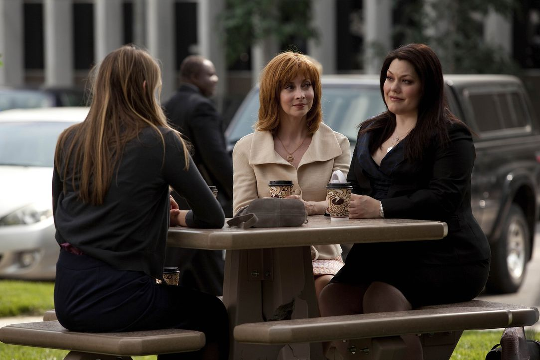 Haben sie eine Chance, vor Gericht ihren Fall zu gewinnen? Jane (Brooke Elliott, r.), Bobbie (Sharon Lawrence, M.) und Samantha (Leelee Sobieski, l.... - Bildquelle: 2009 Sony Pictures Television Inc. All Rights Reserved.