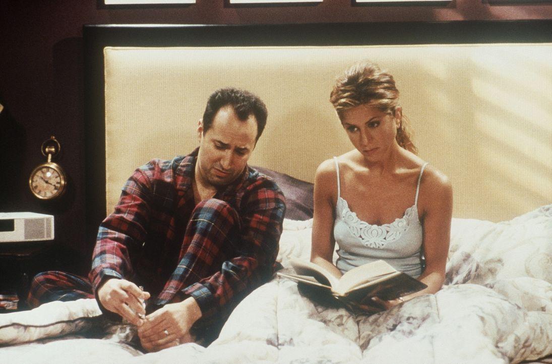 Was wäre wenn: Rachel (Jennifer Aniston, r.) ist mit Barry (Mitchell Whitfield, l.) verheiratet. - Bildquelle: TM+  2000 WARNER BROS.