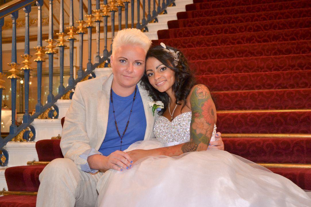 Wird es Anna gelingen die sehr weiblichen Vorstellungen einer Hochzeit von Sian richtig umzusetzen? - Bildquelle: Matt Joyce