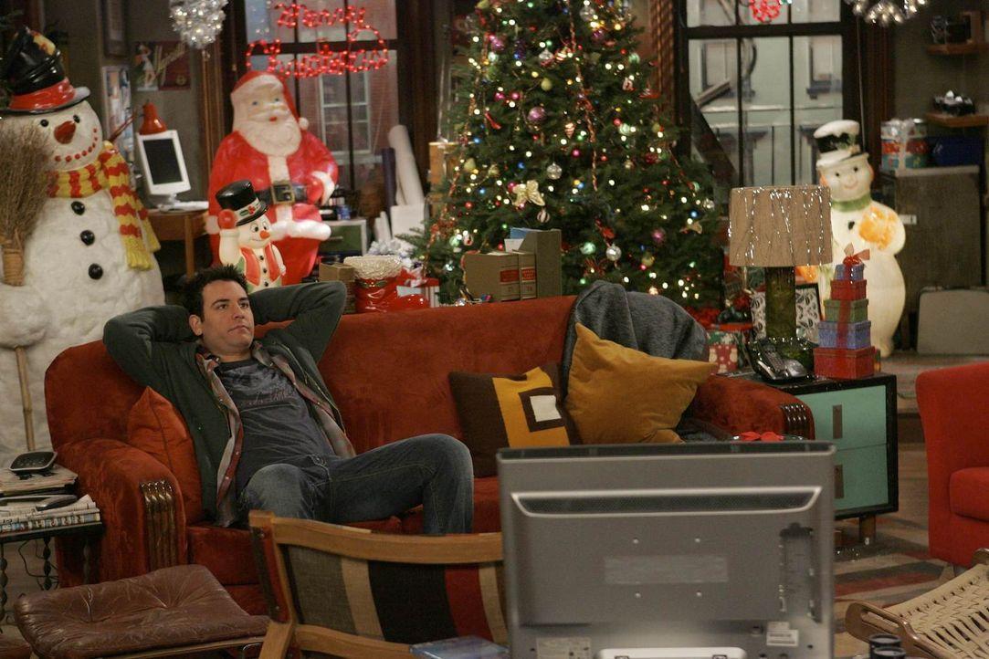 Weihnachten steht vor der Tür: Nach einem Streit mit Lily verläuft für Ted (Josh Radnor) das bevorstehende Weihnachtsfest leider anders als geplant... - Bildquelle: 20th Century Fox International Television