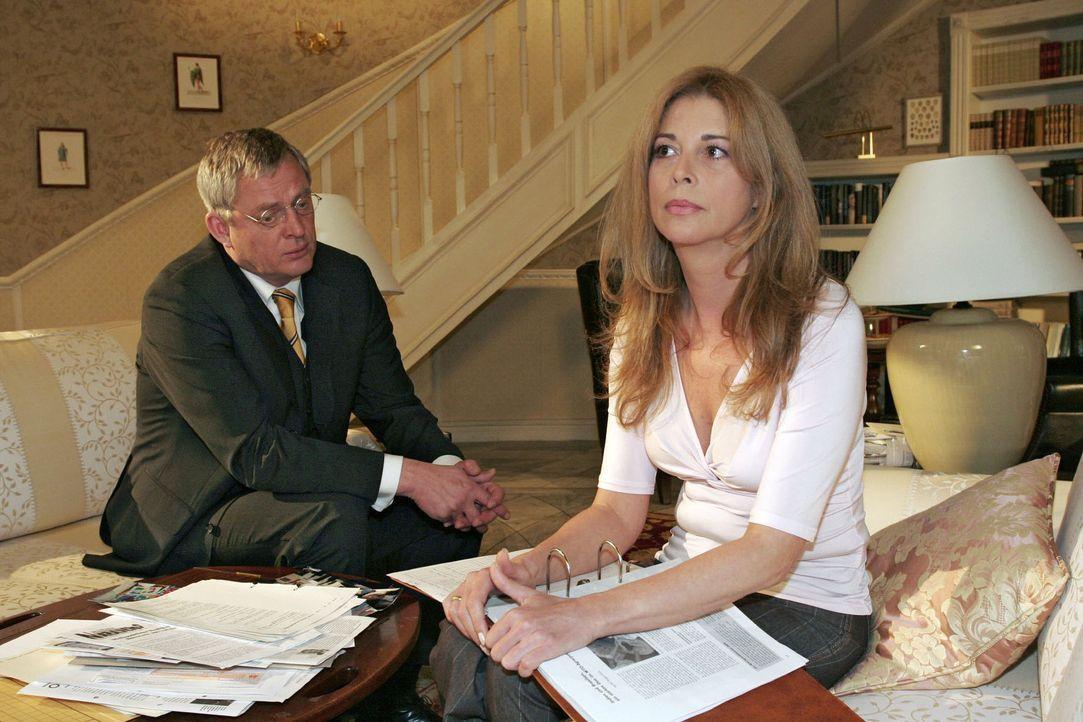 Ehekrise: Friedrich (Wilhelm Manske, l.) und Laura (Olivia Pascal, r.) bekommen ihre Probleme nicht in den Griff ... - Bildquelle: Sat.1