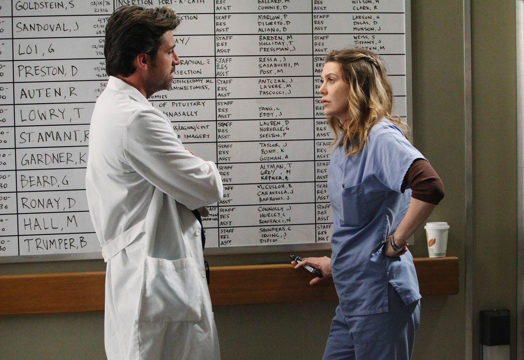 Machen sich Sorgen um Cristina: Derek (Patrick Dempsey, l.) und Meredith (Ellen Pompeo, r.) ... - Bildquelle: ABC Studios