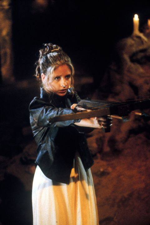 Buffy (Sarah Michelle Gellar) hat die Aufgabe, gegen die Kraft des Bösen anzutreten. Sie macht sich auf den Weg in die Hölle. Zunächst sieht es so a... - Bildquelle: TM +   2000 Twentieth Century Fox Film Corporation. All Rights Reserved.