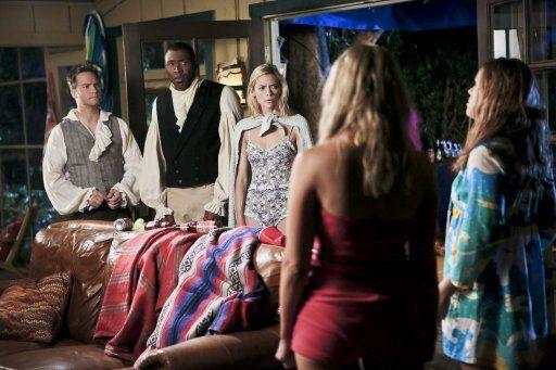 Hart of Dixie: Lemon überrascht Levon und George beim Verkleiden - Bildquelle: Warner Bros. Entertainment Inc.