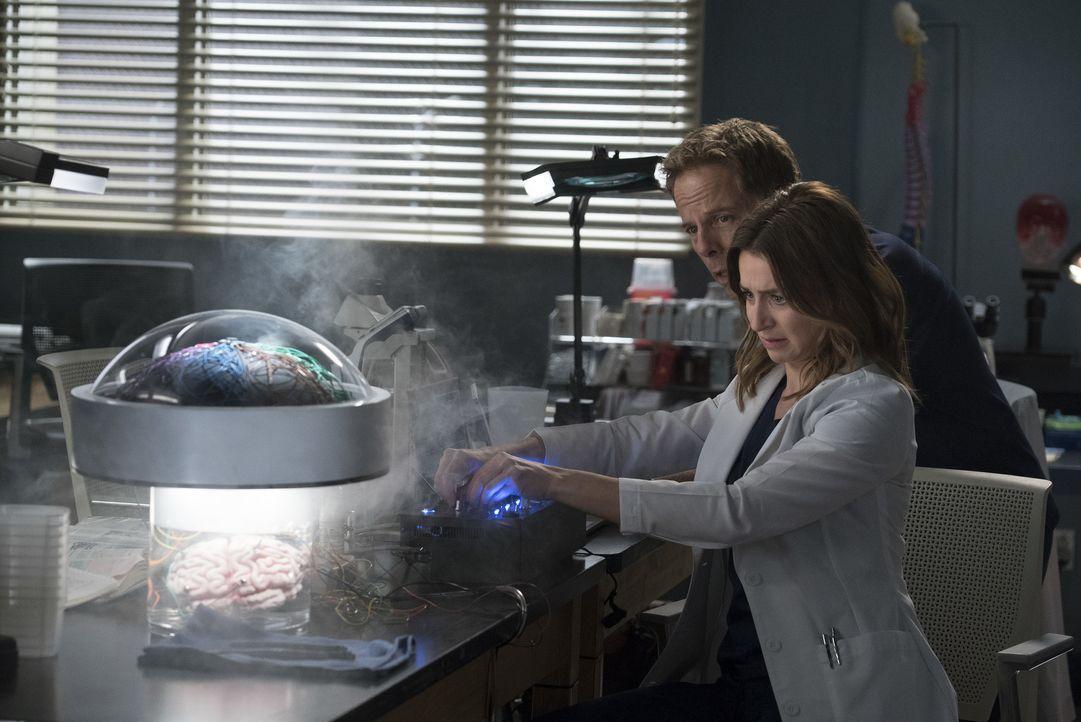Dr. Thomas Koracik (Greg Germann, l.); Dr. Amelia Shepherd (Caterina Scorsone, r.) - Bildquelle: Eric McCandless ABC Studios / Eric McCandless