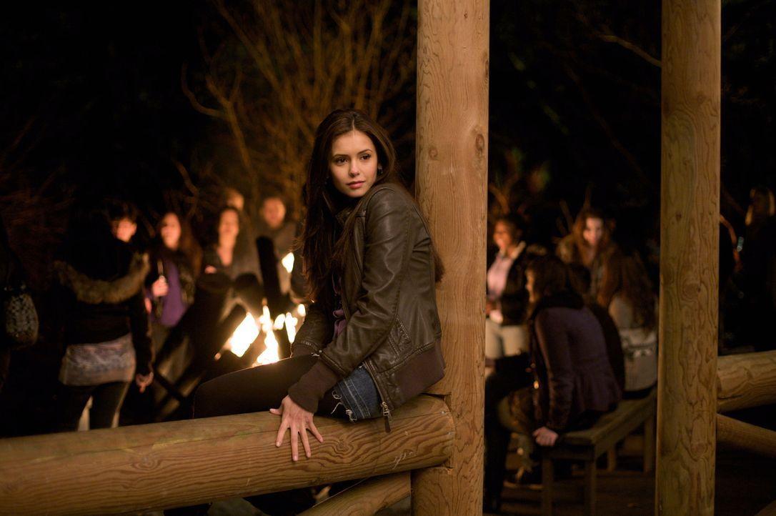 Erhofft sich auf der Party auf ihren neuen Mitschüler Stefan zu treffen: Elena (Nina Dobrev) - Bildquelle: Warner Brothers