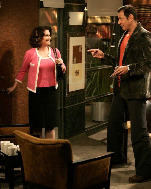 Karen besucht Scott Woolley (Jeff Goldblum, l.), einen alten Schulfreund, der einen Artikel über sie schreiben möchte ... - Bildquelle: Chris Haston 2003 NBC, Inc. All rights reserved.