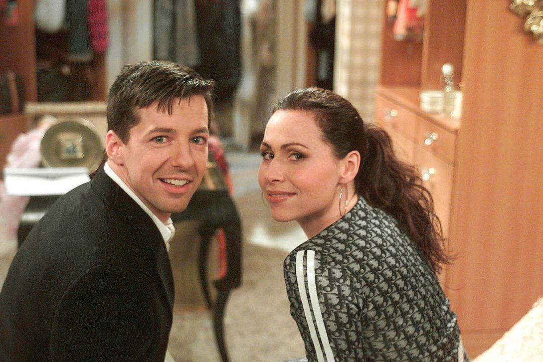 Jack (Sean Hayes, l.) hat sich doch tatsächlich mit Karens britischer Konkurrentin Lorraine (Minnie Driver, r.), der neuen Freundin ihres Ex-Mannes... - Bildquelle: NBC Productions