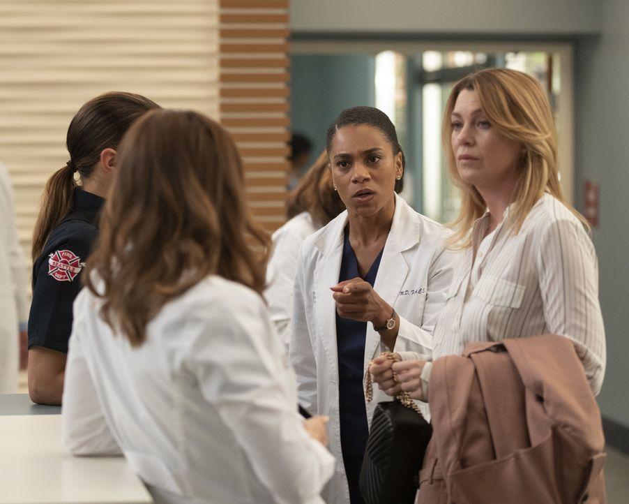Dr. Maggie Pierce (Kelly McCreary, l.); Dr. Meredith Grey (Ellen Pompeo, r.) - Bildquelle: Rick Rowell ABC Studios / Rick Rowell