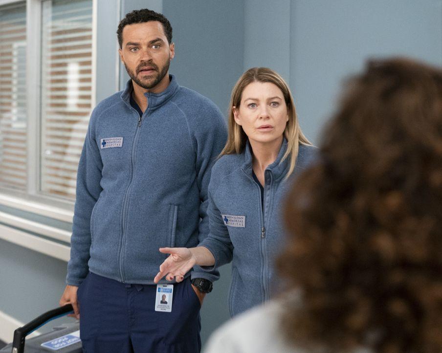 Dr. Jackson Avery (Jesse Williams, l.); Dr. Meredith Grey (Ellen Pompeo, r.) - Bildquelle: Mitch Haaseth ABC Studios / Mitch Haaseth