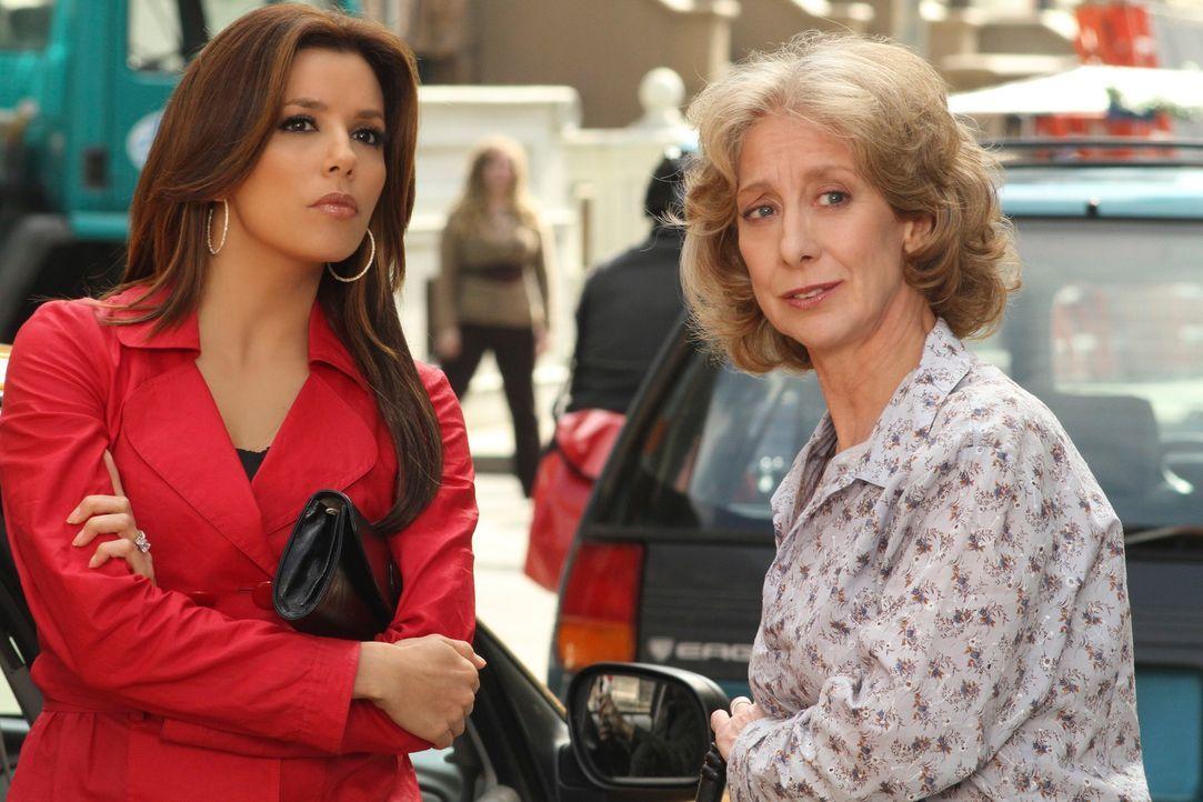 Gabrielle (Eva Longoria, l.) ahnt nicht, was sie anrichtet, als sie Iris (Ellen Crawford, r.) erzählt wo Angie wohnt ... - Bildquelle: ABC Studios