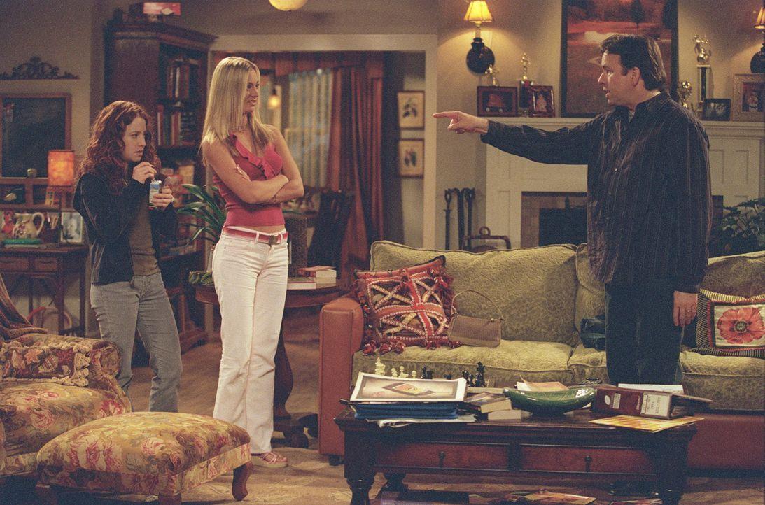 Völlig entnervt versucht Paul (John Ritter, r.), seine stressigen Töchter Bridget (Kaley Cuoco, M.) und Kerry (Amy Davidson, l.) zu bändigen ... - Bildquelle: ABC, Inc.
