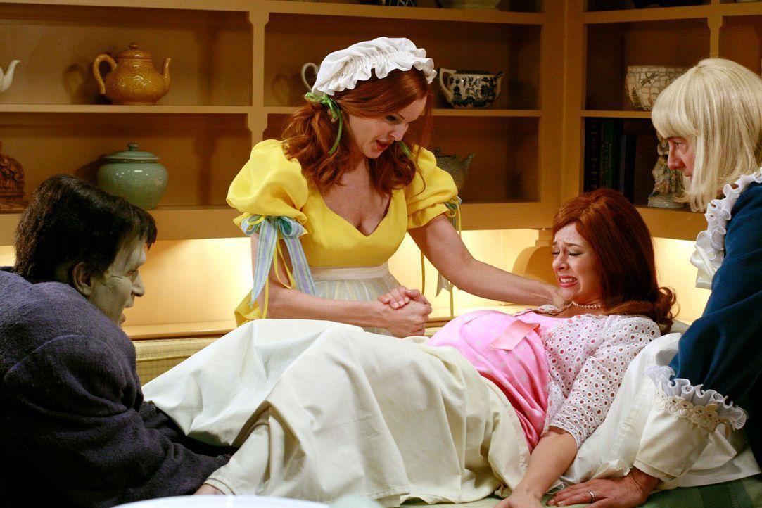 Da es bereits zu spät ist Danielle (Joy Lauren, 2.v.r.) noch ins Krankenhaus zu fahren, bittet Bree (Marcia Cross, 2.v.l.) Adam (Nathan Fillion, l.)... - Bildquelle: ABC Studios