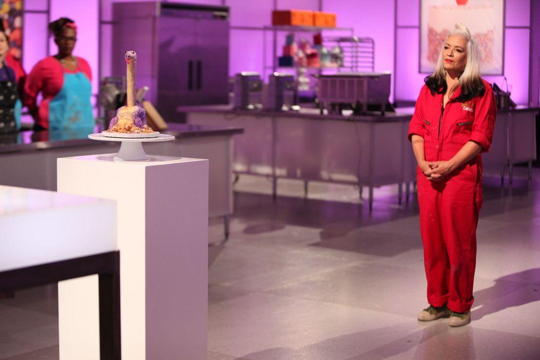 Als sich Brie Darling (r.) dem Urteil der Jury stellen muss, bangt sie. Darf Brie in der finalen Challenge weiter um das Preisgeld in Höhe von  10.0... - Bildquelle: 2016,Television Food Network, G.P. All Rights Reserved