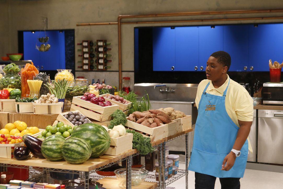 Aus frischen und vor allen Dingen äußerst aufwändigen und außergewöhnlichen Zutaten müssen die kleinen Chopped-Köche einen riesen Gaumenschmaus auf... - Bildquelle: Jason DeCrow 2015, Television Food Network, G.P. All Rights Reserved