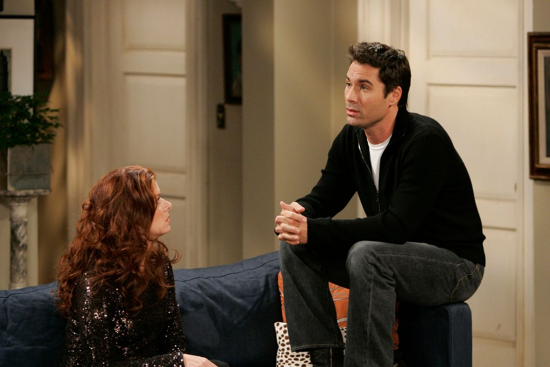 Versuchen Probleme zu lösen: Will (Eric McCormack, r.) und Grace (Debra Messing, l.) ... - Bildquelle: NBC Productions