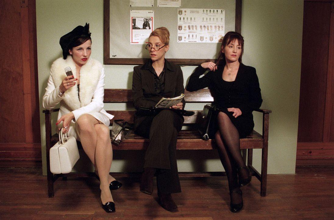 Aus den drei betrogenen Ehefrauen Uschi Schlenz (Meret Becker, l.), Isolde Bierbichler (Sissi Perlinger, M.) und Luzie Feinstein (Ulrike Krumbiegel,... - Bildquelle: Sat.1