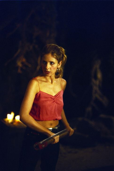 Buffy (Sarah Michelle Gellar) muss ihrer jüngeren Schwester Dawn aus der Klemme helfen. - Bildquelle: TM +   2000 Twentieth Century Fox Film Corporation. All Rights Reserved.