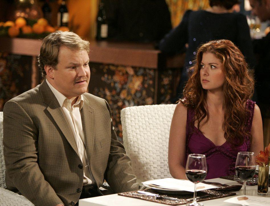Karen meint es nur gut mit Grace (Debra Messing, r.). Sie verschafft ihr ein Blind Date mit dem Klavierstimmer Dale (Andy Richter, l.). Das findet G... - Bildquelle: NBC Productions