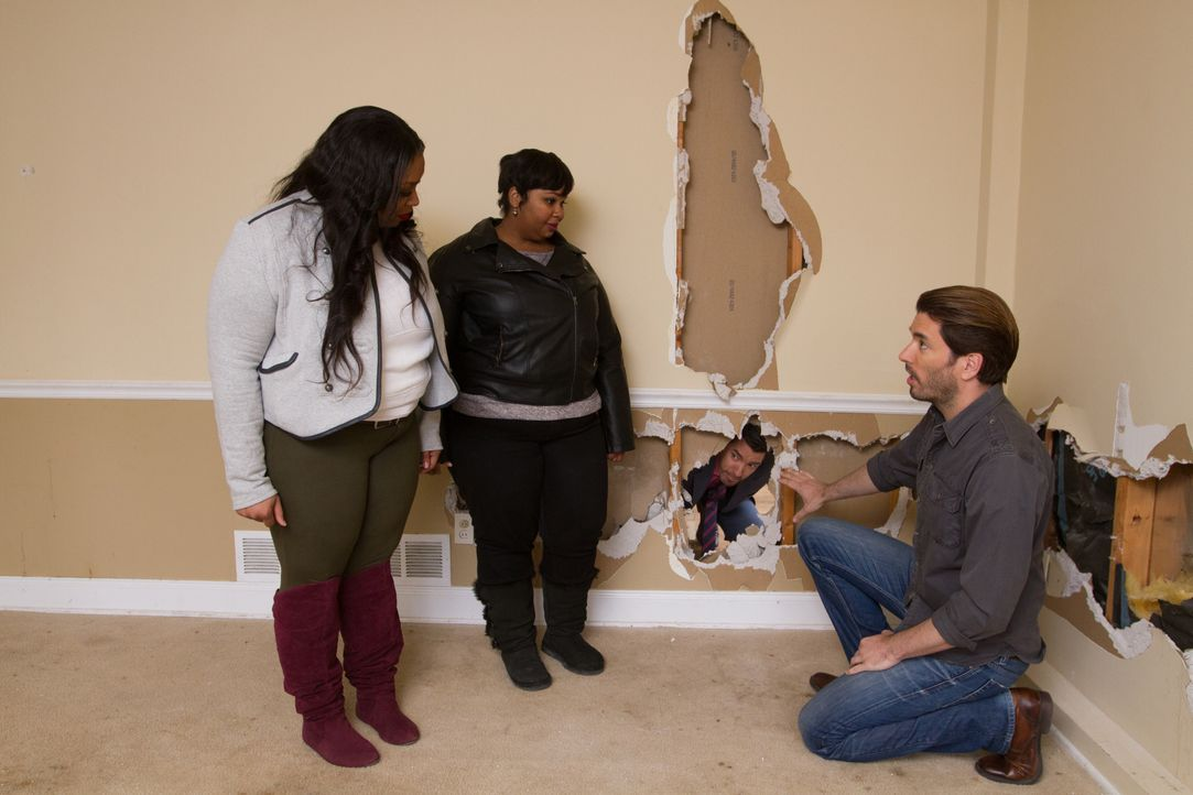 (v.l.n.r.) Dionna Palmer, Natasha Leonard, Jonathan Scott - Bildquelle: Jessica McGowan 2014, HGTV/Scripps Networks, LLC.  All Rights Reserved/Getty Images / Jessica McGowan