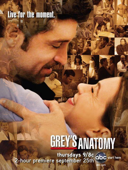 (5. Staffel) - Wird ihre Liebe in harten Krankenhausalltag bestehen können?: Dr. Meredith Grey (Ellen Pompeo, r.) und Dr. Derek Shepherd (Patrick De... - Bildquelle: Touchstone Television