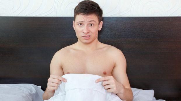 Ein Mann nach dem vorzeitigen Samenerguss