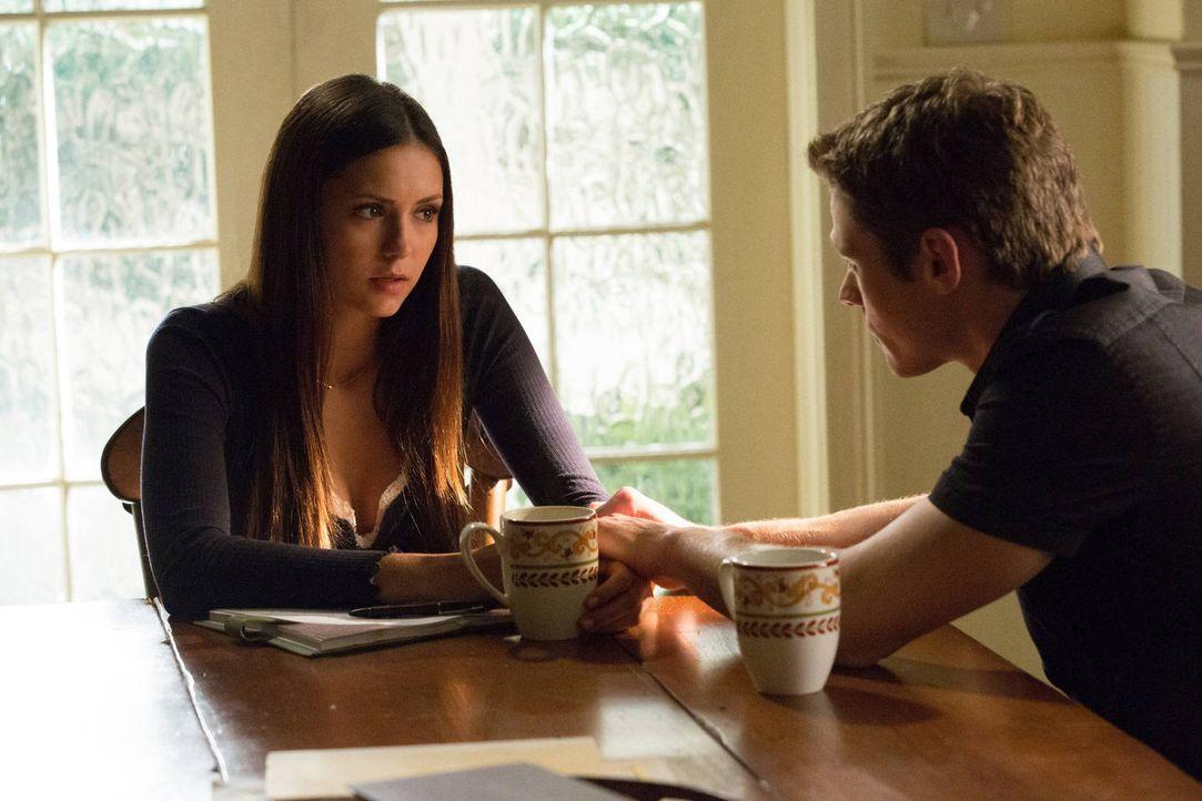 Mit Jeremy hat Elena (Nina Dobrev, l.) auch das letzte Mitglied ihrer Familie verloren. Kann Matt (Zach Roerig, l.) ihr helfen mit all dem fertig zu... - Bildquelle: Warner Brothers