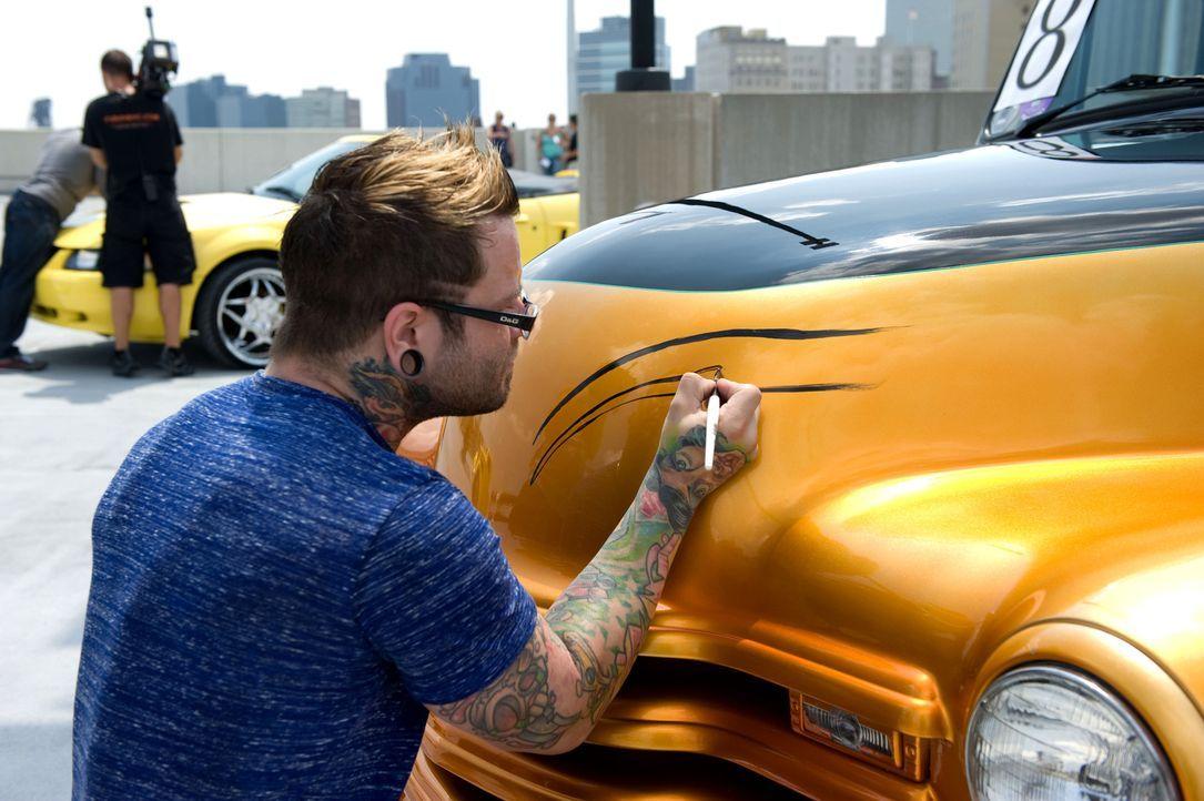 Wird es Josh Woods gelingen, nur mit Hilfe von Linien den Charakter des Autos zu unterstützen und den perfekten Look zu kreieren? - Bildquelle: Fernando Leon Spike TV