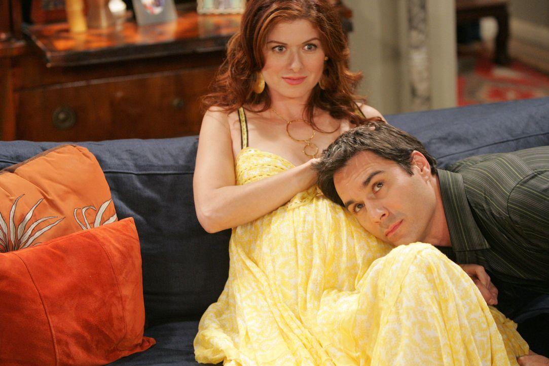 Will (Eric McCormack, r.) verspricht Grace (Debra Messing, l.), dass er mit ihr zusammen das Kind aufziehen will - doch wird es wirklich dazu kommen? - Bildquelle: Chris Haston NBC Productions