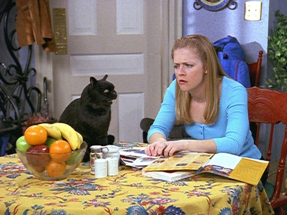 Sabrina (Melissa Joan Hart, r.) möchte von Salem wissen, wie sie die vier Menschen, die sie gerne hat, glücklich machen kann ... - Bildquelle: Paramount Pictures