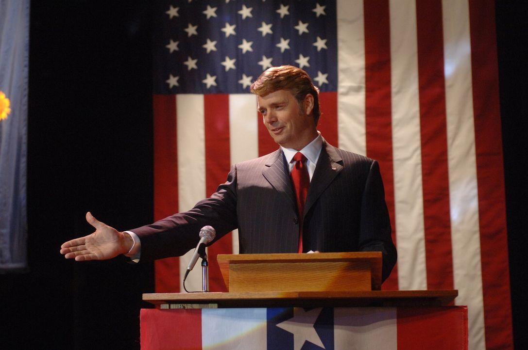Noch sieht alles gut aus, doch Jonathans Wahlkampf wird auf dramatische Weise unterbrochen ... - Bildquelle: Warner Bros.