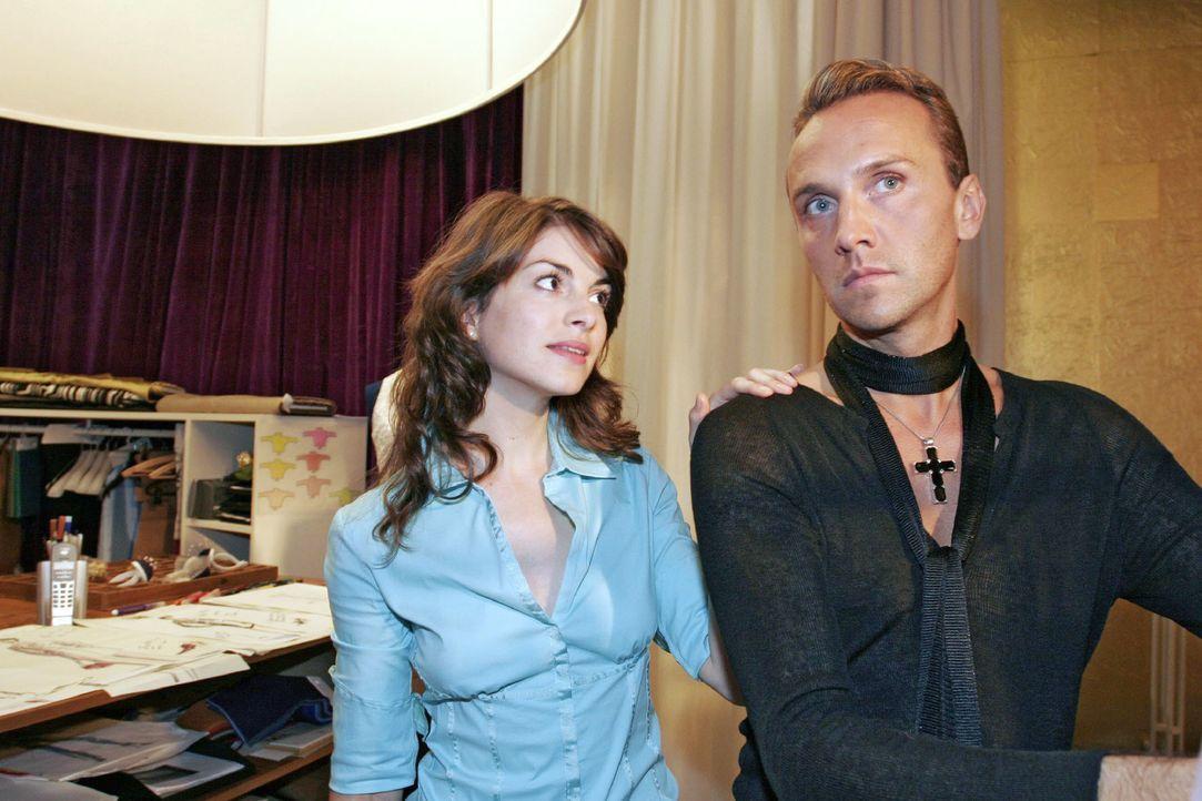 Mariella (Bianca Hein, l.) bittet Hugo (Hubertus Regout, r.), mit ihrer Mutter zu kooperieren. - Bildquelle: Noreen Flynn SAT.1 / Noreen Flynn