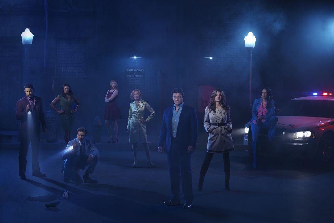 (5. Staffel) - Viele spannende Fälle warten auf (v.l.n.r.) Javier Esposito (Jon Huertas), Lanie Parish (Tamala Jones), Kevin Ryan (Seamus Dever), Al... - Bildquelle: ABC Studios
