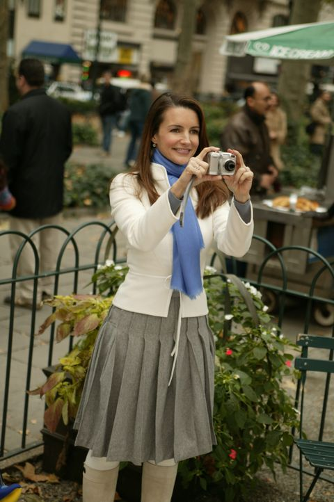 Da die Frischvermählten Miranda und Steve eine 4-tägige Hochzeitsreise planen, erklären sich Charlotte (Kristin Davis) und Carrie bereit, den kle... - Bildquelle: Paramount Pictures