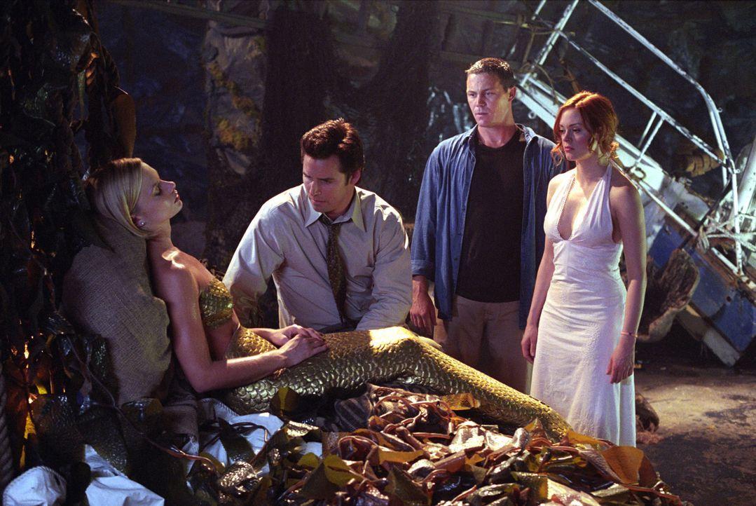 In letzter Minute gesteht Craig (Dan Gauthier, 2.v.l.) Mylie (Jaime Pressly, l.), dass er sie liebt. Leo (Brain Krause, 2.v.r.) und Paige (Rose McGo... - Bildquelle: Paramount International Television