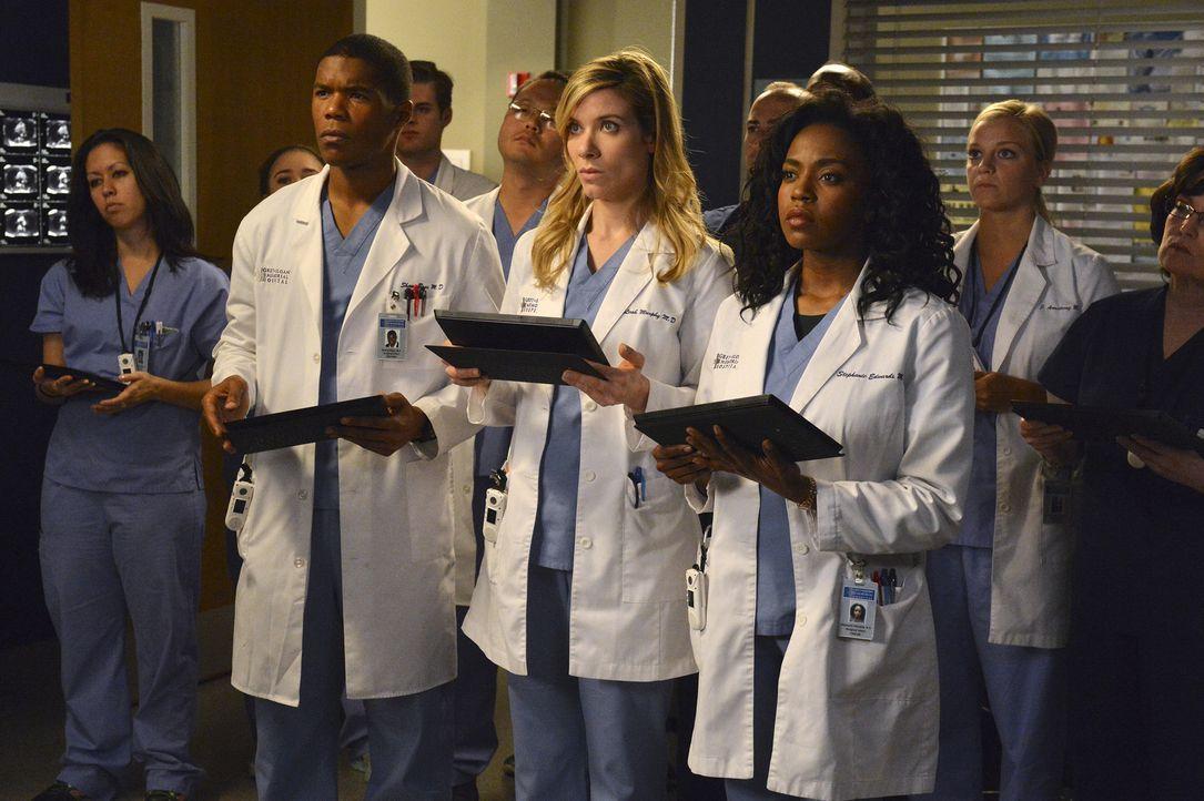 Werden auf eine schwierige Operation vorbereitet: Shane (Gaius Charles, l.), Leah (Tessa Ferrer, M.) und Stephanie (Jerrika Hinton, r.) ... - Bildquelle: ABC Studios