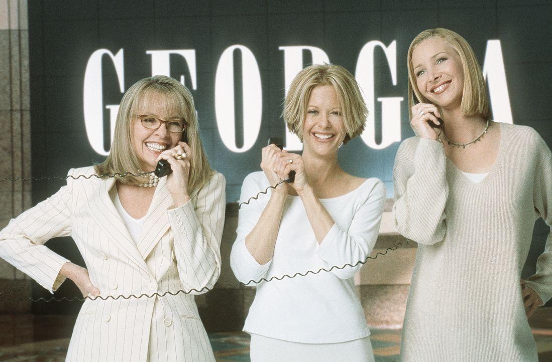 Drei Schwestern mit langer Leitung: Georgia (Diane Keaton, l.), Eve (Meg Ryan, M.) und Maddy (Lisa Kudrow, r.) ... - Bildquelle: Columbia