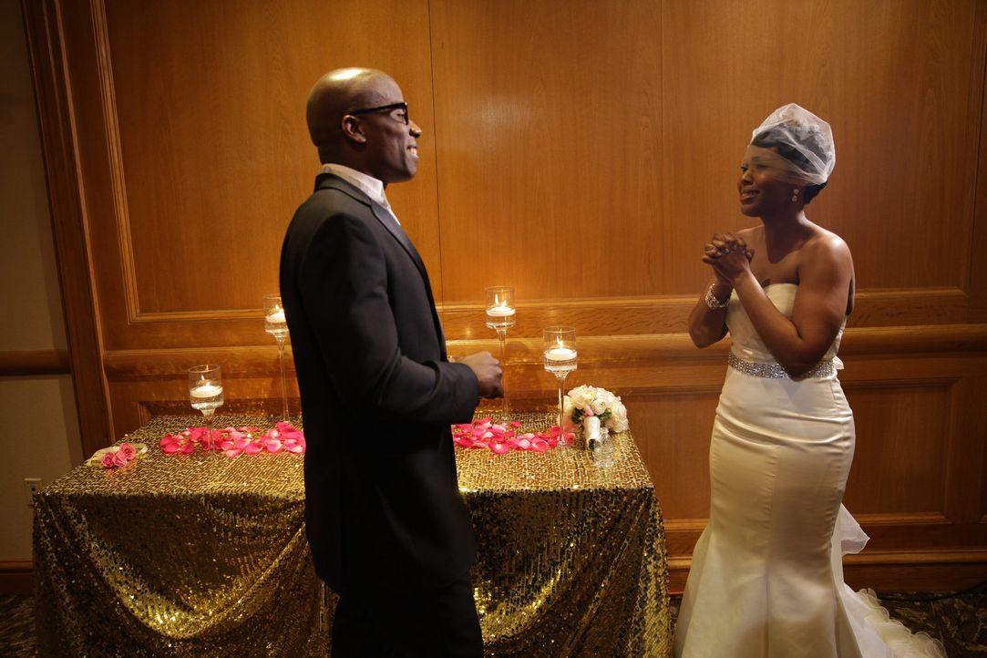Bei der Hochzeit sind sich Monet (r.) und Vaugh (l.) sehr sympathisch, aber reicht das für eine gute Ehe? - Bildquelle: A+E Networks