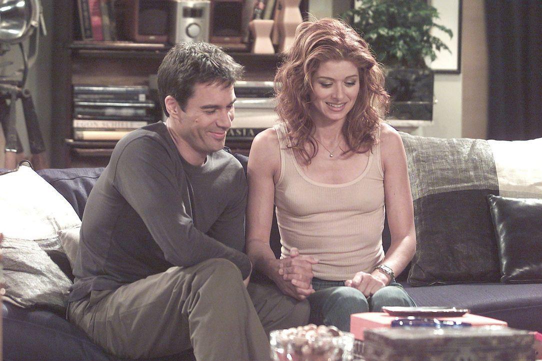 Will (Eric McCormack, l.) und Grace (Debra Messing, r.) warten auf das Ergebnis des Schwangerschaftstests. - Bildquelle: NBC Productions