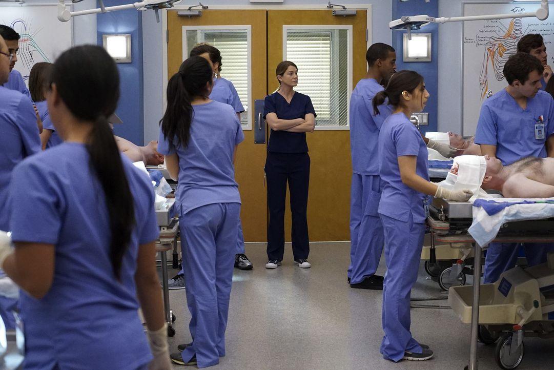 Hat Schwierigkeiten damit, alle ihre Aufgaben zu meistern: Meredith (Ellen Pompeo, M.) ... - Bildquelle: ABC Studios