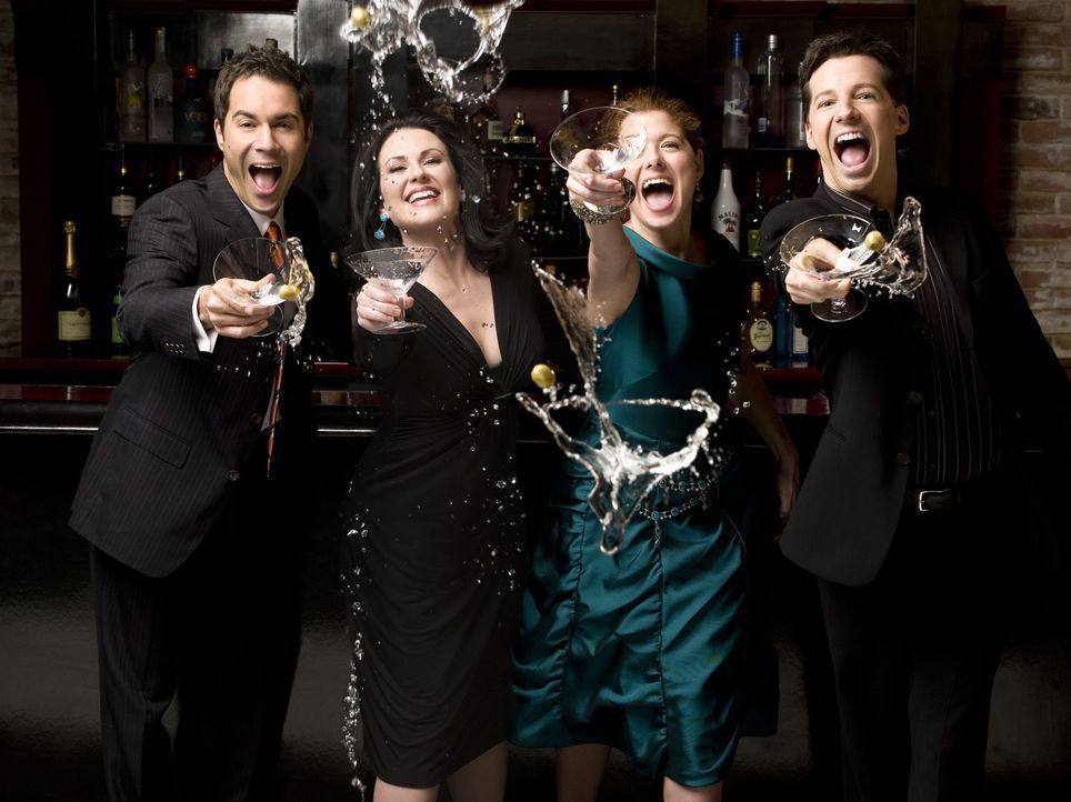 (8. Staffel) - Verbringen gemeinsam ihre chaotischen Tage in New York: Karen (Megan Mullally,2.v.l.), Will (Eric McCormack, l.), Grace (Debra Messin... - Bildquelle: NBC Productions