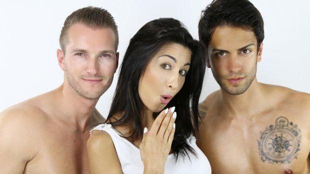 Eine Frau und zwei Männer