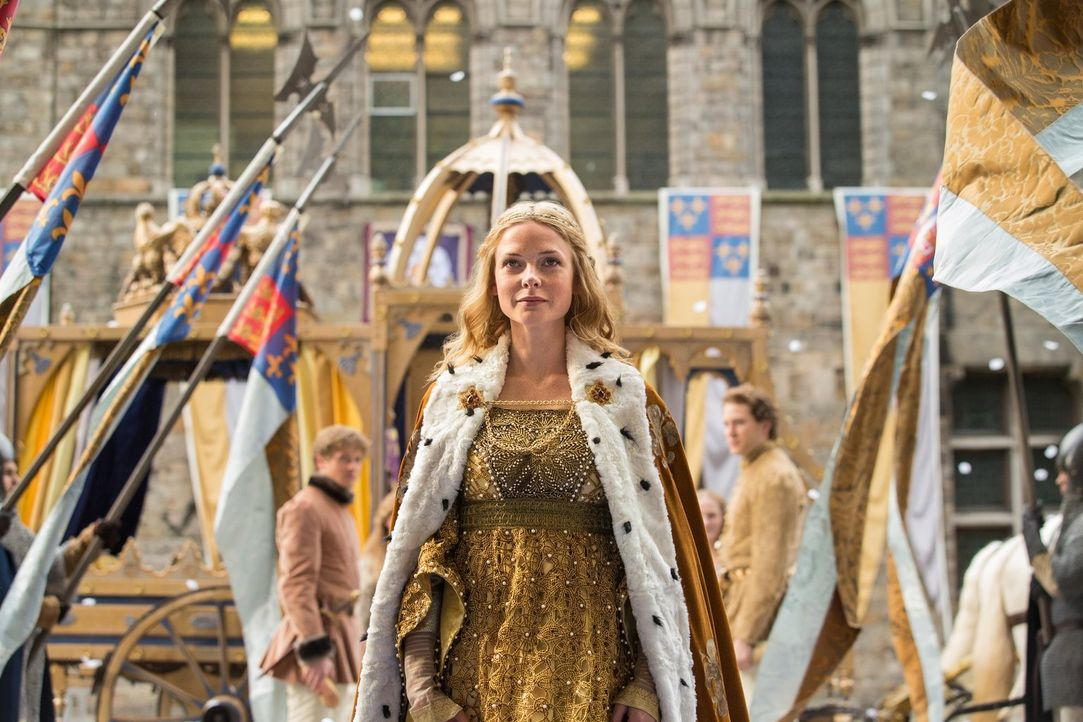 Die Krönung von Elizabeth (Rebecca Ferguson) ist vollbracht ... - Bildquelle: 2013 Starz Entertainment LLC, All rights reserved