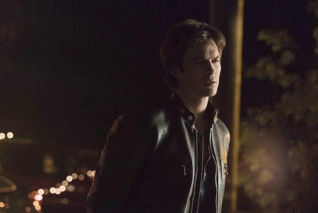 Um Stefan und Caroline davon abzuhalten weiter skrupellos zu morden und zu foltern, setzt Damon (Ian Somerhalder) all seine Hoffnungen auf seine Mut... - Bildquelle: Warner Bros. Entertainment, Inc
