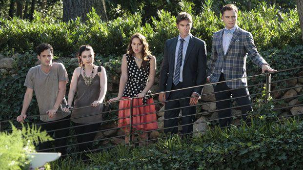 Dan, Nate, Blair und Chuck in Staffel 6 Gossip Girl - Bildquelle: Warner Bros. Television