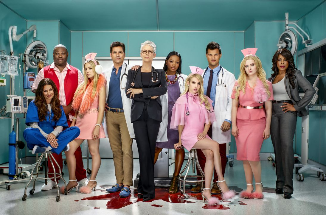 (2. Staffel) - Jahre sind vergangen, seitdem es auf dem Campus zu den Morden kam, jetzt wartet ein neuer Killer auf (v.l.nr.) Hester (Lea Michele),... - Bildquelle: Tommy Garcia 2016 Fox and its related entities.  All rights reserved.
