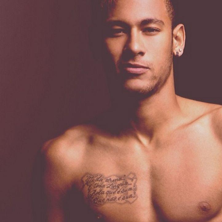 Platz 3 der heißesten Männer oben ohne: Neymar - Bildquelle: Instagram(Neymarjr)